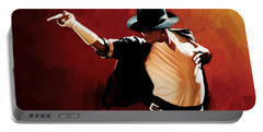 Michael Jackson Artwork 4 Portable Battery Charger by Sheraz A