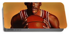 Michael Jordan 2 Portable Battery Charger by Paul Meijering
