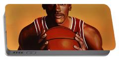 Michael Jordan 2 Portable Battery Charger by Paul Meijering
