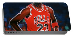 Michael Jordan Portable Battery Charger by Paul Meijering