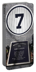 Mickey Mantle Portable Battery Charger by Allen Beatty