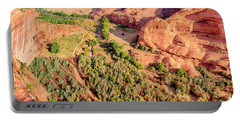 Miles To Go In Canyon De Chelly Portable Battery Charger by Bob and Nadine Johnston