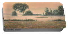 Misty Morning Portable Battery Charger by James W Johnson