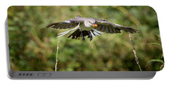 Mockingbird In Flight Portable Battery Charger by Bill Wakeley