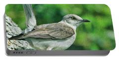 Mockingbird Pose Portable Battery Charger by Deborah Benoit
