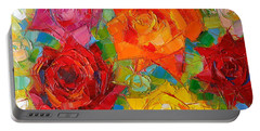 Mon Amour La Rose Portable Battery Charger by Mona Edulesco