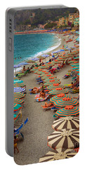 Monterosso Beach Portable Battery Charger by Inge Johnsson