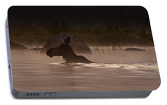 Moose Swim Portable Battery Charger by Brent L Ander