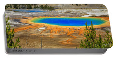 Grand Prismatic Geyser Yellowstone National Park Portable Battery Charger by Edward Fielding