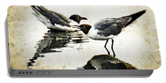 Morning Gulls - Seagull Art By Sharon Cummings Portable Battery Charger by Sharon Cummings