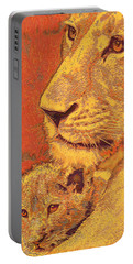 Mother And Cub Portable Battery Charger by Jane Schnetlage
