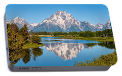 Mount Moran On Snake River Landscape Portable Battery Charger by Brian Harig