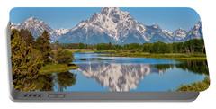 Mount Moran On Snake River Landscape Portable Battery Charger by Brian Harig