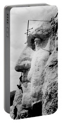 Mount Rushmore Construction Photo Portable Battery Charger by War Is Hell Store
