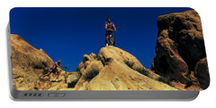 Mountain Bikers Ca Usa Portable Battery Charger by Panoramic Images