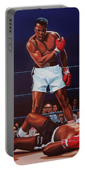 Muhammad Ali Versus Sonny Liston Portable Battery Charger by Paul Meijering