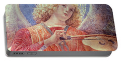 Musical Angel With Violin Portable Battery Charger by Melozzo da Forli