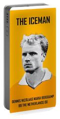 My Bergkamp Soccer Legend Poster Portable Battery Charger by Chungkong Art