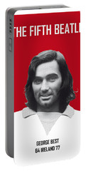 My Best Soccer Legend Poster Portable Battery Charger by Chungkong Art