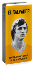 My Cruijff Soccer Legend Poster Portable Battery Charger by Chungkong Art