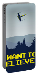 My I Want To Believe Minimal Poster- Xwing Portable Battery Charger by Chungkong Art