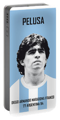 My Maradona Soccer Legend Poster Portable Battery Charger by Chungkong Art