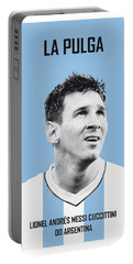 My Messi Soccer Legend Poster Portable Battery Charger by Chungkong Art