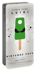 My Nintendo Ice Pop - Luigi Portable Battery Charger by Chungkong Art