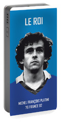 My Platini Soccer Legend Poster Portable Battery Charger by Chungkong Art