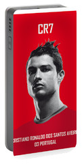 My Ronaldo Soccer Legend Poster Portable Battery Charger by Chungkong Art