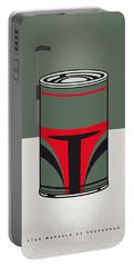 My Star Warhols Boba Fett Minimal Can Poster Portable Battery Charger by Chungkong Art