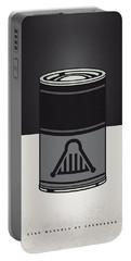 My Star Warhols Darth Vader Minimal Can Poster Portable Battery Charger by Chungkong Art