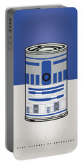My Star Warhols R2d2 Minimal Can Poster Portable Battery Charger by Chungkong Art