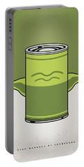 My Star Warhols Yoda Minimal Can Poster Portable Battery Charger by Chungkong Art