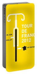 My Tour De France 2012 Minimal Poster Portable Battery Charger by Chungkong Art