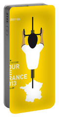 My Tour De France Minimal Poster Portable Battery Charger by Chungkong Art