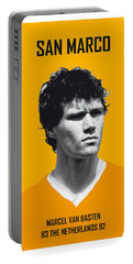 My Van Basten Soccer Legend Poster Portable Battery Charger by Chungkong Art