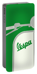My Vespa - From Italy With Love - Green Portable Battery Charger by Chungkong Art