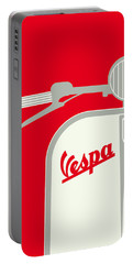 My Vespa - From Italy With Love - Red Portable Battery Charger by Chungkong Art