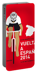 My Vuelta A Espana Minimal Poster 2014 Portable Battery Charger by Chungkong Art