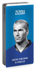 My Zidane Soccer Legend Poster Portable Battery Charger by Chungkong Art