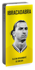 My Zlatan Soccer Legend Poster Portable Battery Charger by Chungkong Art