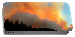 Portable Battery Charger featuring the photograph Myrtle Fire Near Rifle Pit Road by Bill Gabbert
