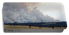 Portable Battery Charger featuring the photograph Myrtle Fire West Of Wind Cave National Park by Bill Gabbert