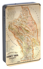 Napa Valley Map 1895 Portable Battery Charger by Jon Neidert