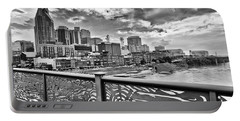 Nashville From The Shelby Bridge Portable Battery Charger by Diana Powell