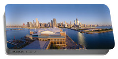 Navy Pier, Chicago, Morning, Illinois Portable Battery Charger by Panoramic Images