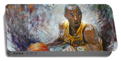 Nba Lakers Kobe Black Mamba Portable Battery Charger by Ylli Haruni