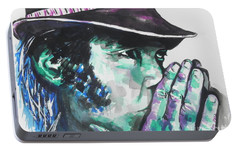 Neil Young Portable Battery Charger by Chrisann Ellis