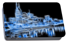 Neon Nashville Skyline Portable Battery Charger by Dan Sproul
